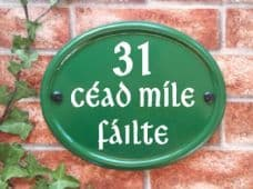 Large Oval House Sign – 260mm x 210mm; 10.2 inches x 8.3 inches